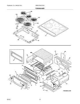 318389302 Maintop Assembly Ideal Appliance Parts