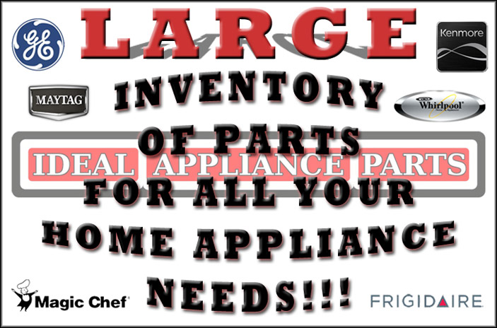 Large inventory of parts for all your home appliance needs!