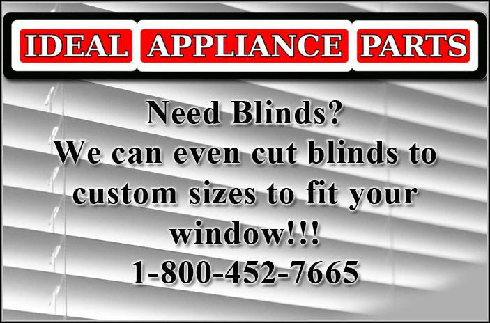 Need Blinds? We can even cut blinds to custom sizes to fit your windows